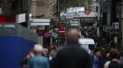 Crowds of shoppers in London Stock Footage