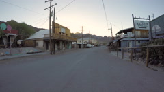 Route 66 Oatman Arizona Dawn Driving Stock Footage