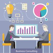 Business Consulting Concept Vector Illustration Piirros