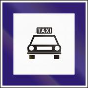 Road sign used in Hungary - Taxi rank Stock Illustration