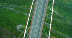 The deepest  bridge  in the south China Stock Footage