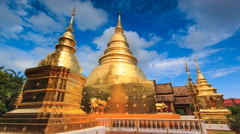 Wat Phra Singh Temple Landmark Destination Religion Place Of Chiang Mai,Thailand Stock Footage