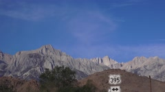Establishing, Highway 395 to Mt. Whitney Stock Footage