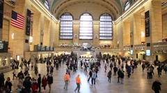Grand Central Terminal Main Concourse Holiday Season Stock Footage