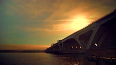 Woodrow Wilson Bridge Va Stock Footage