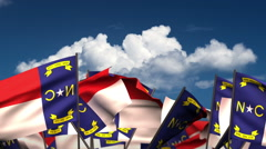 Waving North Carolina State Flags Stock Footage