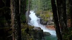 Silver Falls, Mount Rainier National Park, Washington Stock Footage