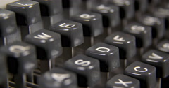 Close-up Of Typewriter Keyboard Stock Footage