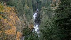 Twin Falls, Olallie State Park, Washington Stock Footage