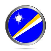 Marshall Islands flag button. Stock Illustration