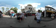 360 shot of mosque in Singapore Stock Footage