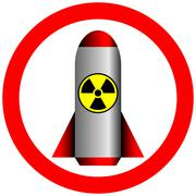 Nuclear power and radiation forbidden Stock Illustration