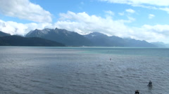 Seward - Alaska - View from the harbour Stock Footage