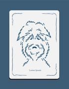 Sketch drawing dog head Stock Illustration