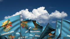 Waving Oklahoma State Flags Stock Footage