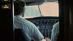 USA 1977: air pilot before taking off Stock Footage