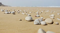 Beach Stone Panorama 4k Stock Footage