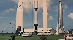 Cape Canaveral 1977: space rockets at Kennedy Space Center Stock Footage