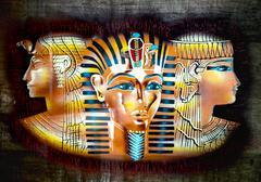 Ancient Egyptian parchment Stock Illustration