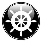 Steering wheel button Stock Illustration