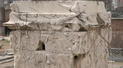 Zoom in shot of the base of trajan's column in rome, italy Stock Footage