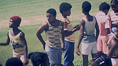 Cape Canaveral 1977: black boys visit Kennedy Space Center Stock Footage