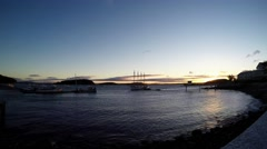 Frenchman Bay morning time lapse Stock Footage