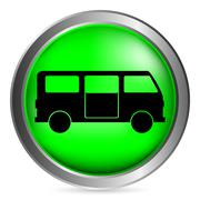 Minibus button Stock Illustration