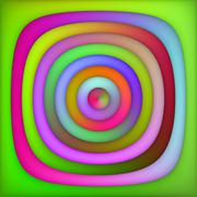 Raster Multicolor Green Pink Shades Gradient Concentric Circles Abstract Stock Illustration