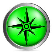 Compass button Stock Illustration