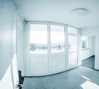 Empty interior with windows Stock Photos