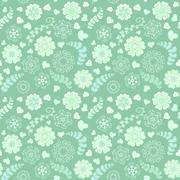 Floral seamless pattern with flowers. Copy square to the side and you'll get Stock Illustration