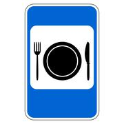 Food item road sign Stock Illustration