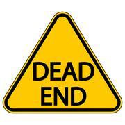 Dead End sign Stock Illustration