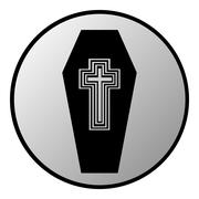 Coffin button Stock Illustration