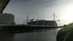 Millennium Stadium, Cardiff Stock Footage
