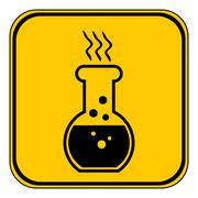 Danger chemicals sign Stock Illustration