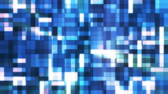 Broadcast Twinkling Squared Hi-Tech Blocks, Blue, Abstract, Loopable, 4K Stock Footage