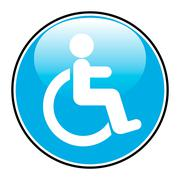 Disabled icon sign Stock Illustration