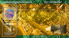 Port - High Tech - Drone View - Satellite - yellow - HD Stock Footage