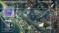 Port - High Tech - Drone View - Satellite - color - HD Stock Footage
