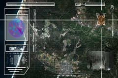 Country - High Tech - Drone View - Satellite - color Stock Footage