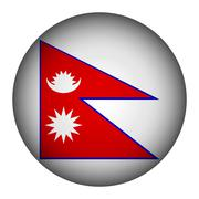 Nepal flag button. Stock Illustration