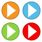 Play sign buttons set Stock Illustration