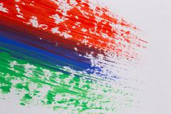 Acrylic paint colorful brush strokes Stock Photos