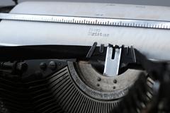 Retro old typewriter Stock Photos