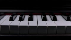Animated Play piano keys Stock Footage