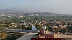 Moroccan View Panorama 4k Stock Footage