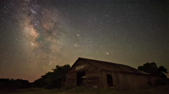 4K Milky Way Time Lapse Stock Footage