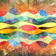 Watercolor multicolored abstract elements Stock Illustration